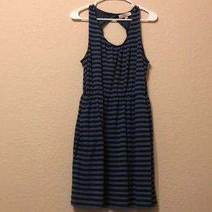 Like new loft Large blueAnd black striped dress